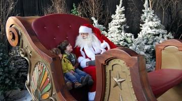 A Tivoli, per un giro sulla slitta di Babbo Natale