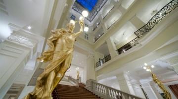 Il maestoso scalone nella lobby del di Budapest
