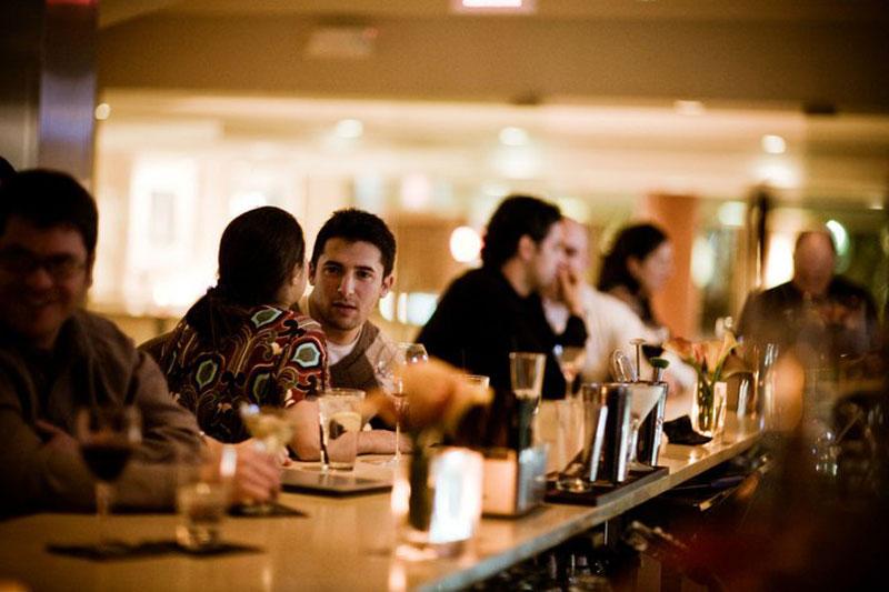 La lounge del ristorante Dante: qui si può prendere un aperitivo serale (foto: Dante)