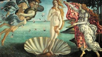 Museo degli Uffizzi: la Nascita di Venere (1482 ca.) di Botticelli è fra i capolavori del Rinascimento e deve il suo nome al Vasari