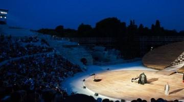 Una Tragedia Greca al Teatro greco di Siracusa. Le rappresentazioni dell'Estate 1015 partono venerdì (foto Luca Augello).