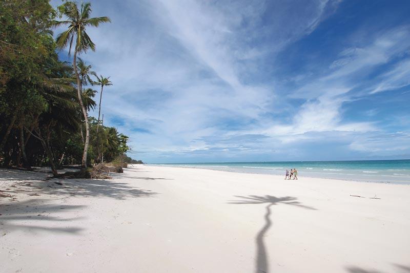 La spiaggia di Galu Kinondo