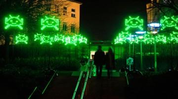 Invasione aliena nelle vie di Lione (foto: Fête des lumières/Muriel Chaulet)