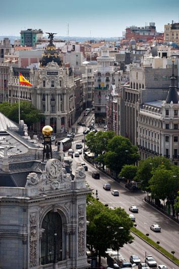 Un caratteristico scorcio di Madrid