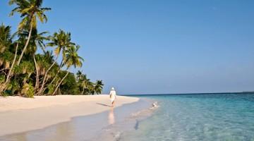 Spiagge di sabbia bianca e finissima nell'atollo di Baa
