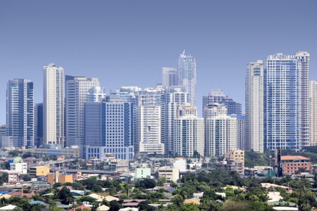 fort bonifacio skyscrapers manila skyline philippines