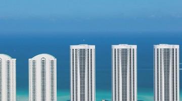 Le 3 Trump Towers di Miami (da destra)