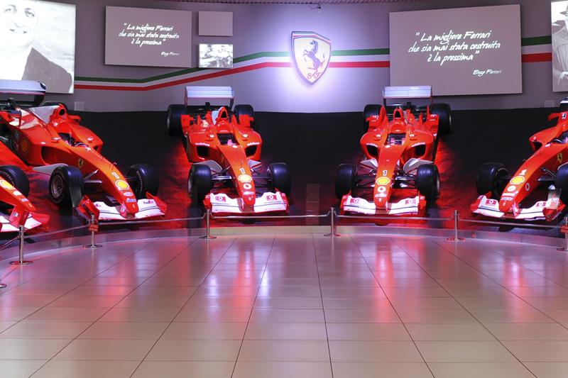 La Sala delle Vittorie al Museo Ferrari di Maranello (foto: Ufficio stampa Ferrari)
