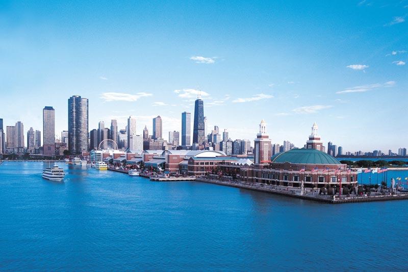 Il Navy Pier, il porto di Chicago