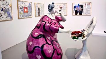Niki de Saint Phalle, La toilette (1978) – La scultura fa parte delle collezioni permanenti del Mamac, il Musée d'Art Moderne et d'Art Contemporain (foto: Fabio Fojanini)