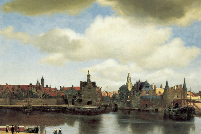 Johannes Vermeer - Mauritshuis 92. Title: Gezicht op Delft. Date: c. 1660-1661. Materials: oil on canvas. Dimensions: 96.5 x 115.7 cm. Nr.: 92. Source: http://www.essentialvermeer.com/catalogue_xxl/view_xxl.html.