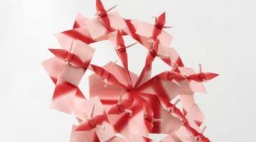 La mostra Spirito di carta  a  Palazzo Barolo, Torino: le gru d Keiko Okamoto
