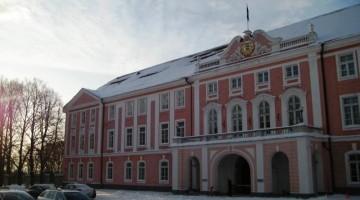 Il palazzo rosa del Parlamento estone (foto: Matteo Varani)