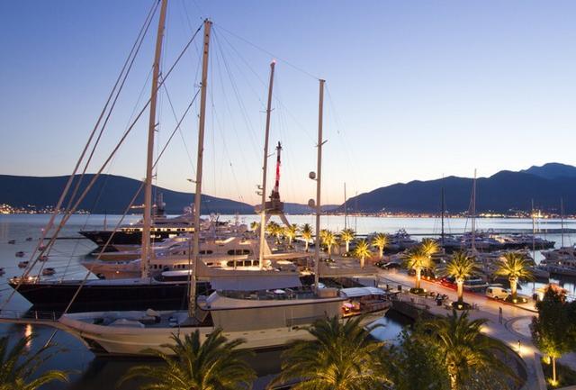 La marina di Porto Montenegro