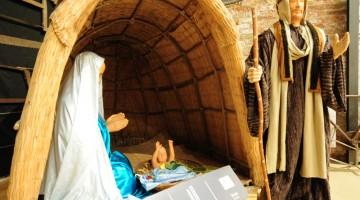 Nel presepe dei salinari di Cervia, la capanna è quella in giunco tipica dei salinari
