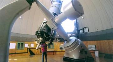 L'interno dell'Osservatorio , aperto per corsi e attività amatoriali nel Week end