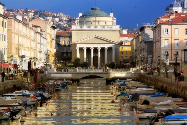 Grand Canal and Church of St. Anthony in Trieste
