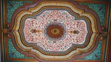 Il soffitto della sala Dougga del museo del Bardo, a Tunisi