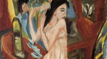"""""""Nudo che si pettina"""", realizzato da Ernst Ludwig Kirchner nel 1913, è in mostra a Villa Manin fino al 4 marzo 2012"""