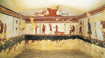 La tomba dei Giocolieri, vicino a Tarquinia
