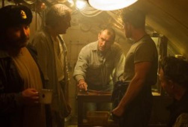 Una scena di i Black Sea, con Jude Law, nei cinema.