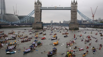 HM the Queen's Diamond Jubilee River Pageant in London