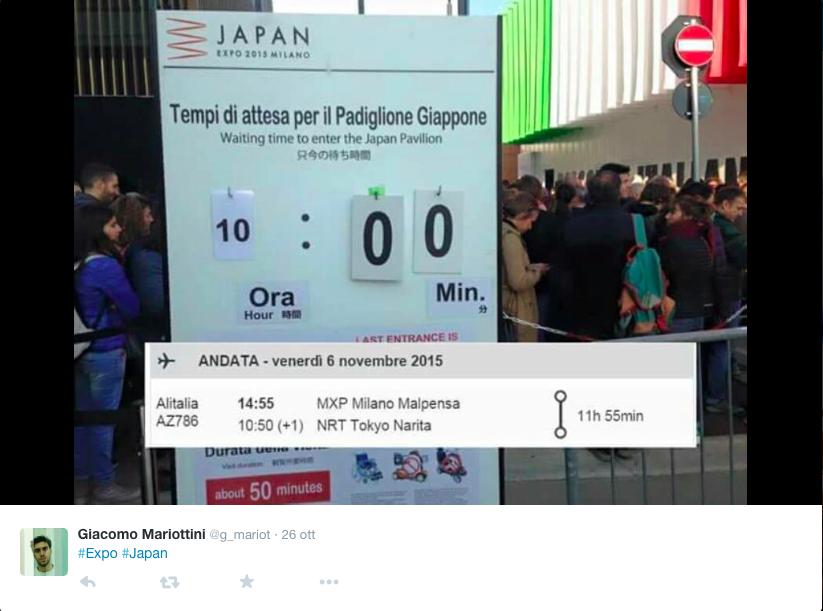 Expo: gli sos (comici) dei visitatori in fila dal Giappone