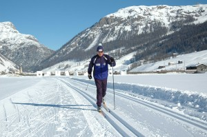 Fondo e discese in neve fresca in Alta Valtellina
