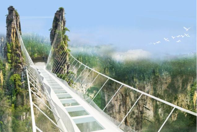 A spasso nel vuoto: la struttura è stata progettata dell'architetto israeliano Haim Dotan che, tra le altre cose, ha disegnato anche il futuristico padiglione israeliano all'Expo 2010 di Shanghai.