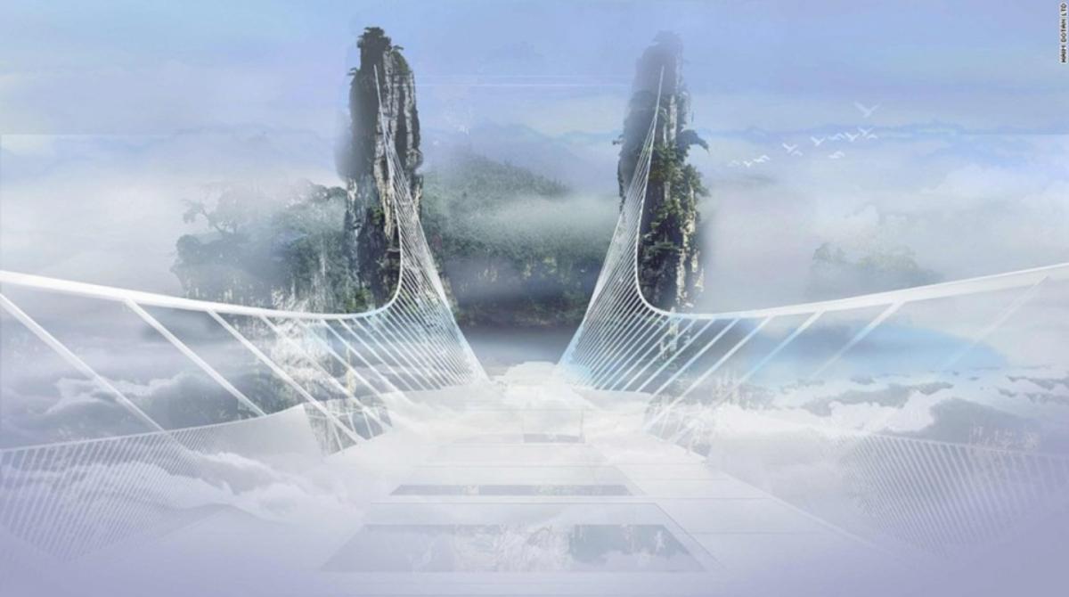 Passeggiate da brivido: in Cina il nuovo ponte di vetro da record