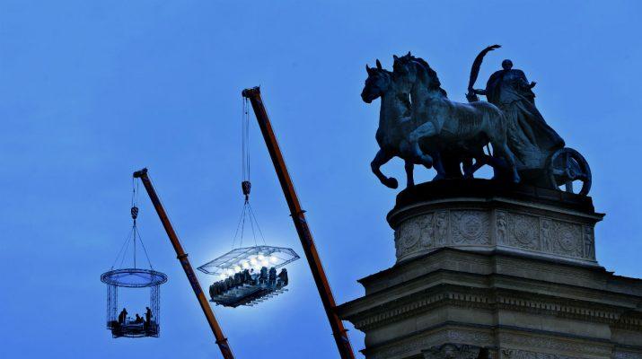 Foto Dinner in the Sky: cena nel vuoto a Roma