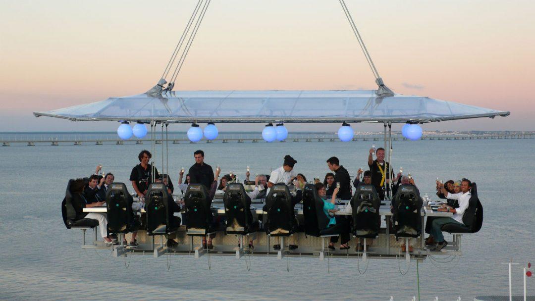 Dinner in the Sky: cena nel vuoto a Roma