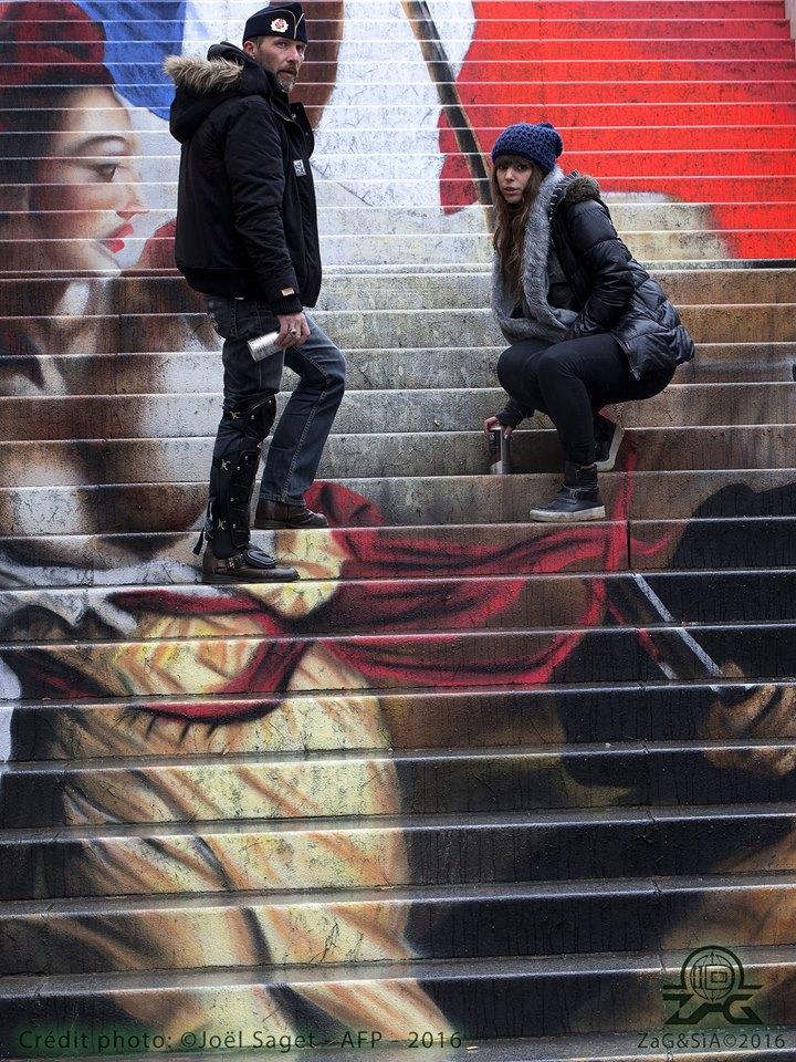 La scala è a colori. Gradini spettacolo da San Francisco a Rio