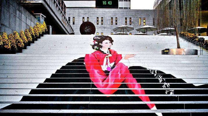 Foto La scala è a colori. Gradini spettacolo da San Francisco a Rio