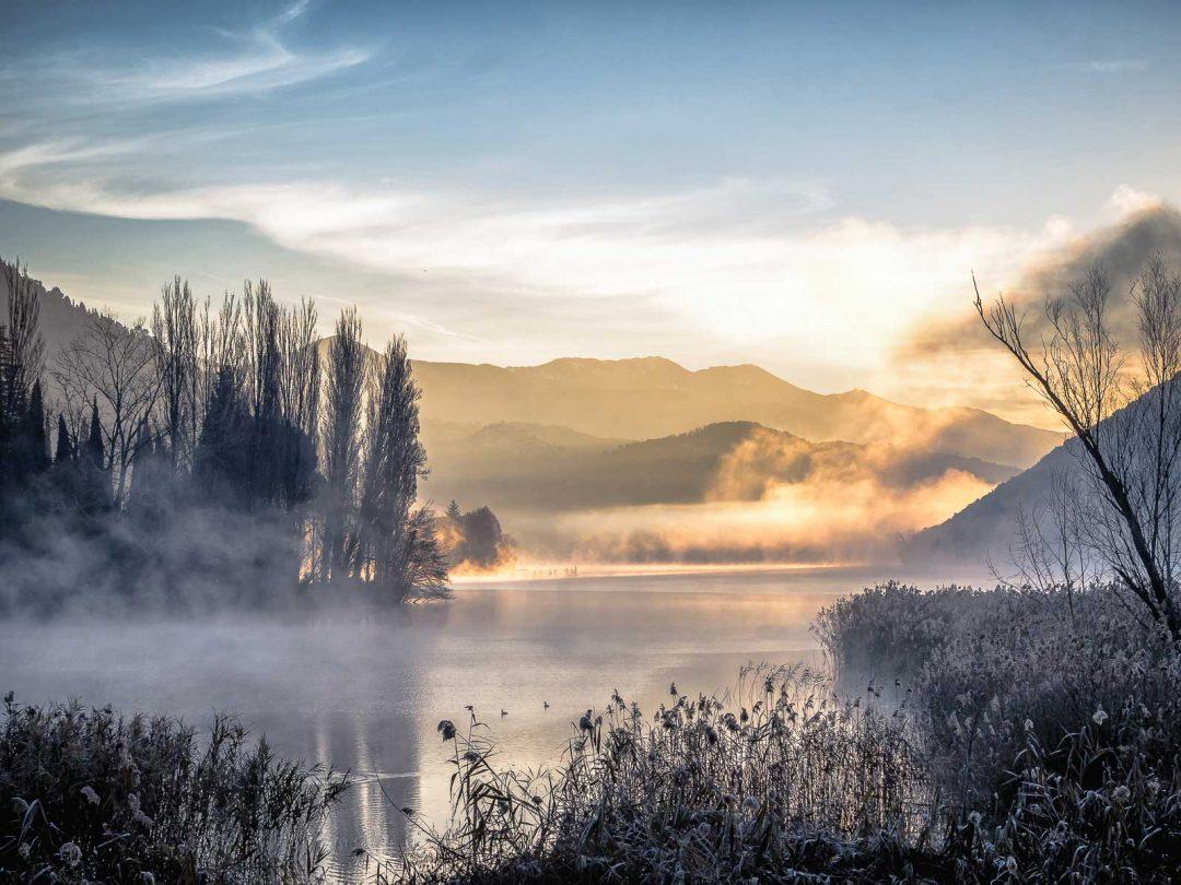 Gelida alba silente - Lago di Pediluco - Terni (TR)