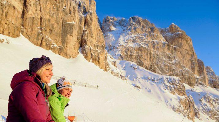 Foto Val d'Ega. La neve sotto il sole