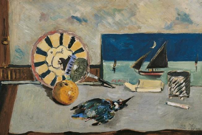 """Filippo de Pisis, """"Natura morta col Martin pescatore"""", 1925. Museo d'Arte Moderna e Contemporanea """"Filippo de Pisis"""""""