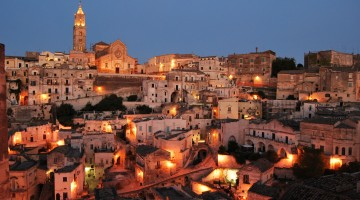Matera-all'imbrunire