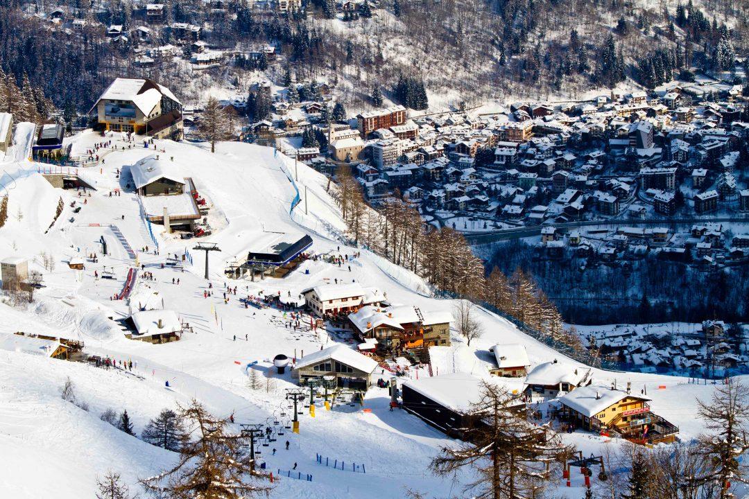 Sulla neve a Courmayeur