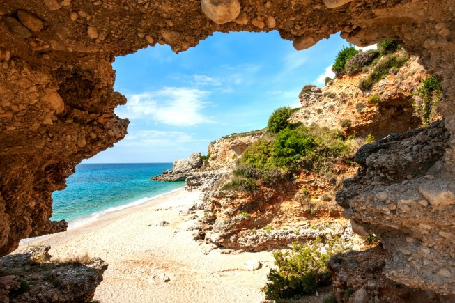 La spiaggia di Drymades, in ALbania, fra Valona e Dhermi. Foto: Giovanni Tagini /Dove