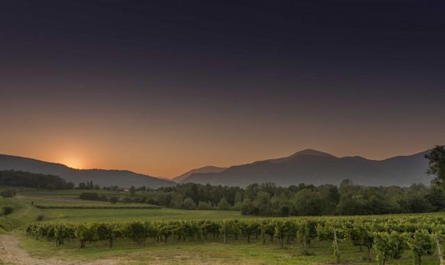 Il tramonto sulle colline del Franciacorta.