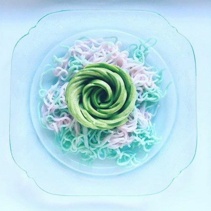 "I coloratissimi ""Unicorn noodles"""