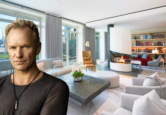 Sting mette in vendita il suo attico su central park for Appartamenti design new york