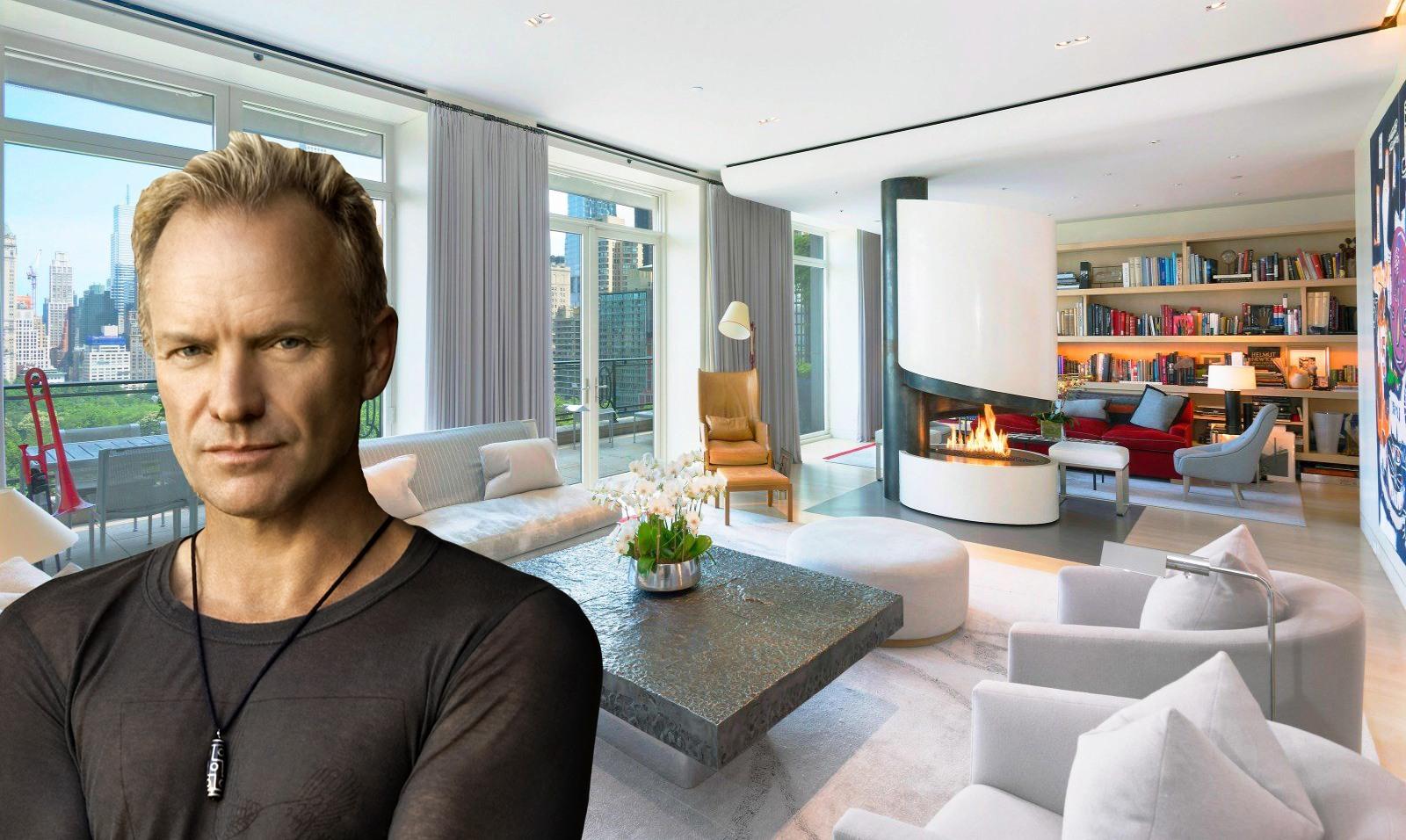 Sting mette in vendita il suo attico su central park for Attico new york vendita