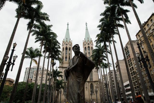 Il centro storico di San Paolo, megalopoli brasiliana raggiunta da molti immigrati italiani in cerca di fortuna, nel XIX secolo