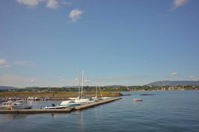 Un altro scorcio del fiordo di Oslo, dove d'estate si vive sempre all'aperto.