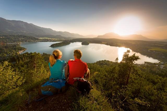 Vista sul lago Faaker See.