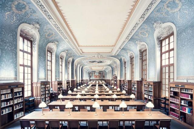 Biblioteca della Sorbona (Bibliothèque de la Sorbonne, Salle Jacqueline de Romilly) a Parigi, 1897