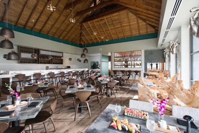 Tra i ristoranti di livello delSandals Grande St. Lucien, il Soy, dove si gusta cucina asiatica e un freschissimo sushi.