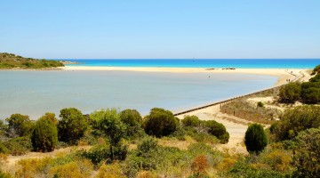 Beach Chia in Sardinia, Italy.